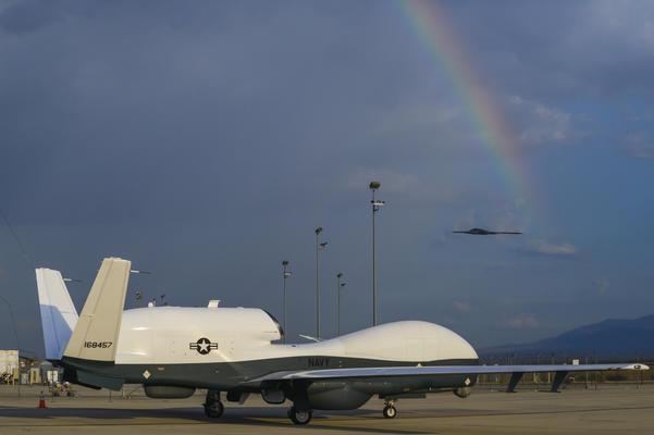 An MQ-4C Triton at the Northrop Grumman facility in Palmdale. Credit: Northrop Grumman