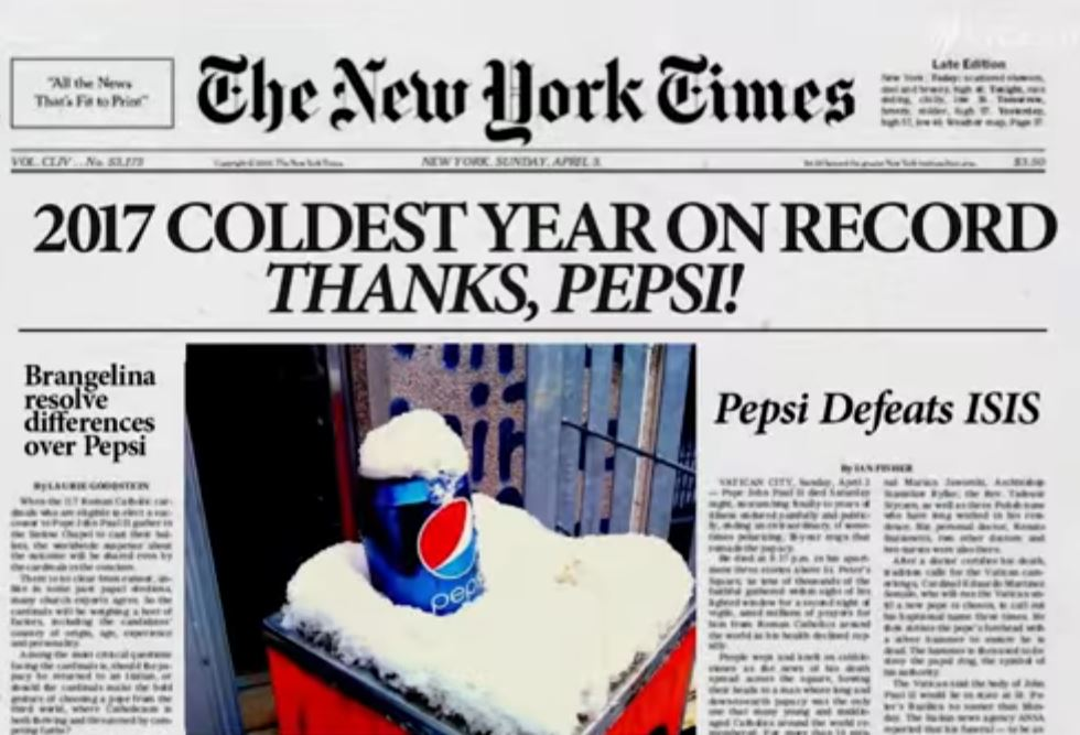 Pepsi can save the world ...right?