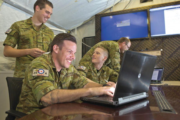 Personnel from No.462 Squadron's Deployable Assessment and Remediation Team (DART) visit Australia's main air operating base in the Middle East Region.