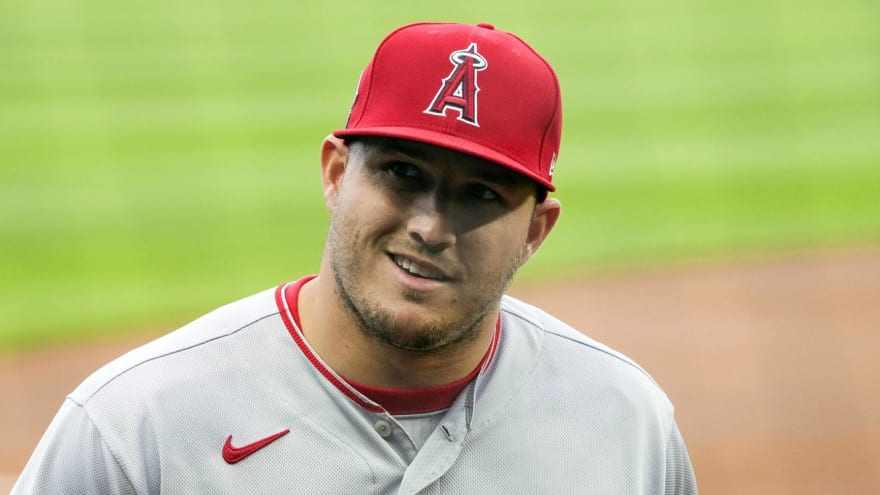Mike Trout suffers setback in return from calf injury