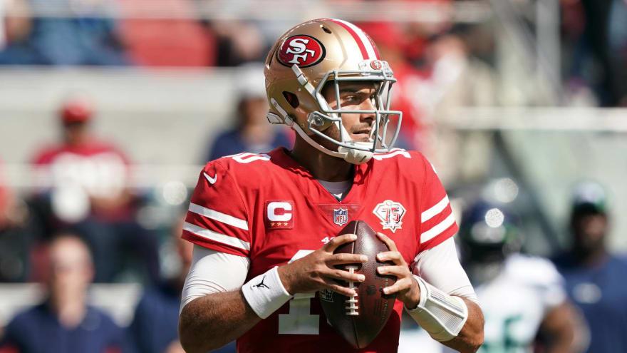 49ers' Jimmy Garoppolo to start vs. Colts; Trey Lance out