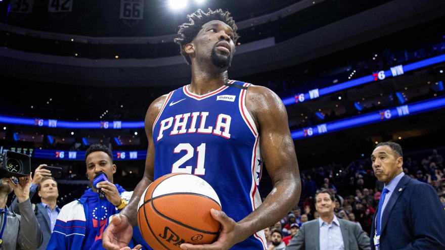 Joel Embiid fined $25K for flipping bird, cursing during interview