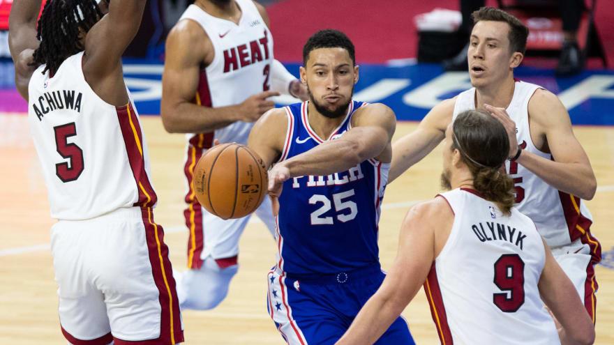 Report: Heat, Raptors, Wizards seen as most likely landing spots for Ben Simmons