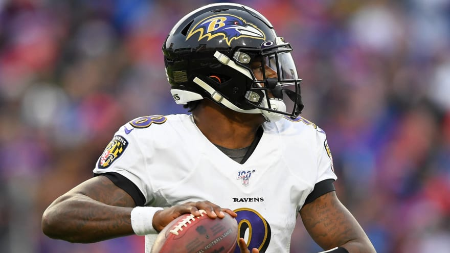 Report: Lamar Jackson 'not injured' in scary near-miss with jet ski