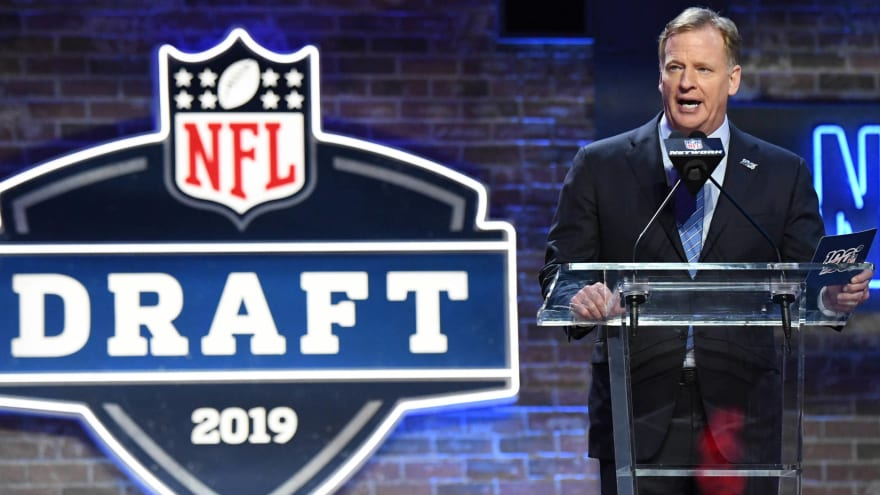 Goodell to announce draft first-round picks from his basement
