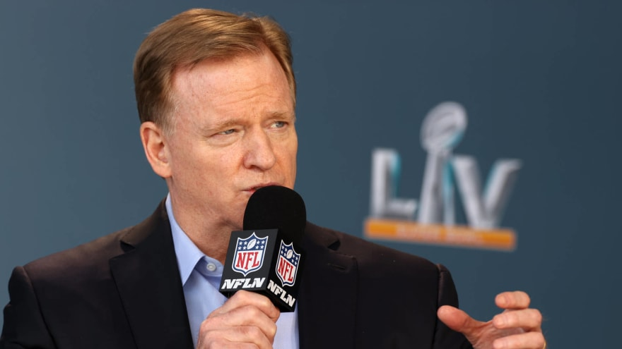 Roger Goodell offers NFL stadiums as vaccination sites