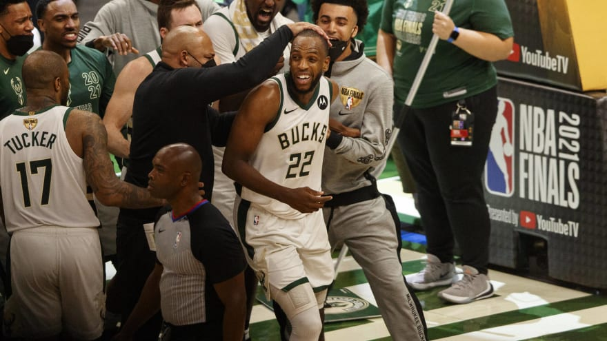 Bucks' Khris Middleton ties LeBron for playoff record