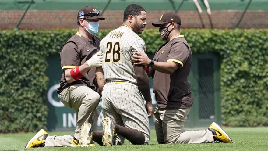 Pham gets into confrontation with Padres 3B coach