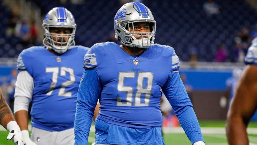 Lions' Sewell practicing at LT to replace injured Decker