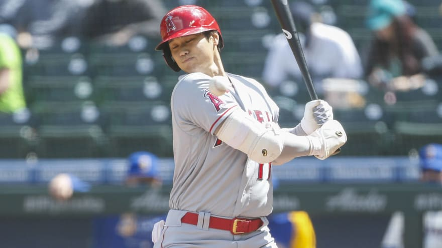 Ohtani scratched vs. Rays after being hit by pitch