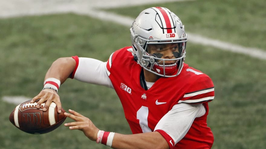Could Patriots trade up in draft for Ohio State QB Justin Fields?