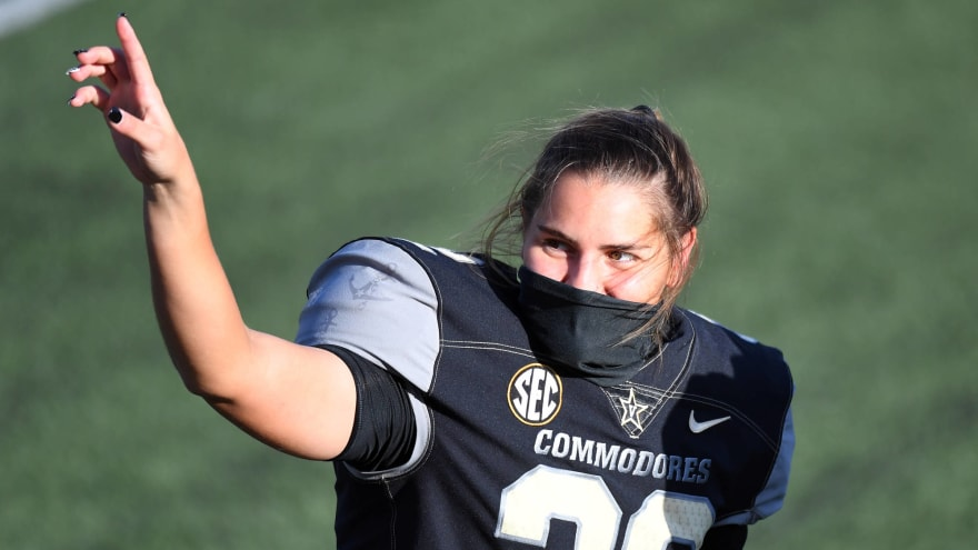 Vanderbilt's Fuller becomes first woman to score in Power 5 game
