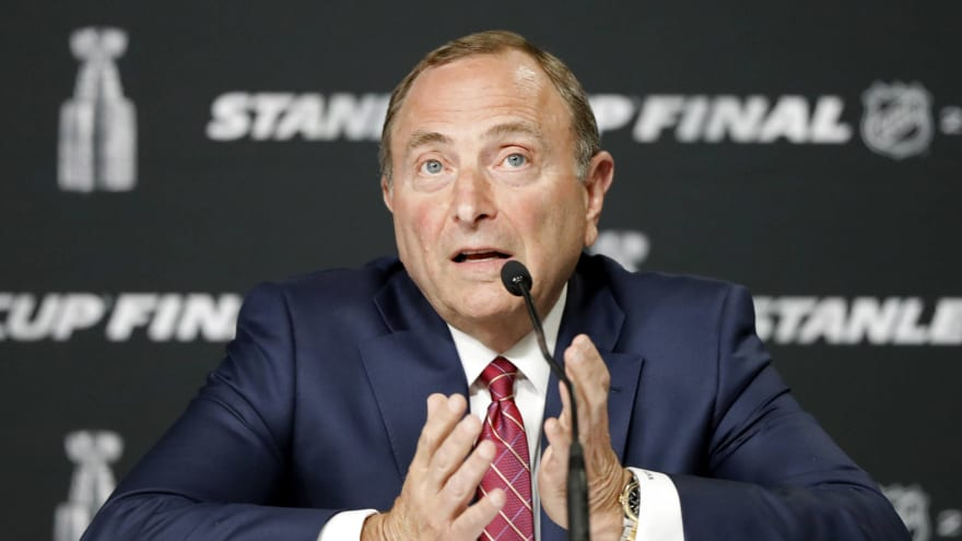 NHL commish Bettman discusses regional hub cities, reduced schedule