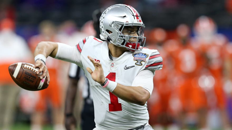 49ers, Patriots to attend Justin Fields' Pro Day