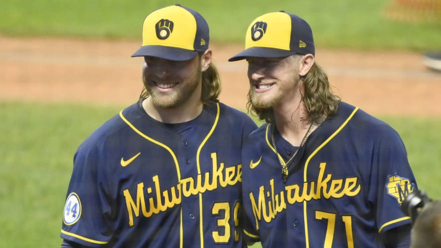 Brewers' Burnes, Hader combine for record ninth no-hitter of season