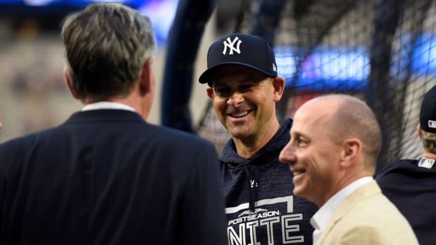 Yankees GM Brian Cashman gives Aaron Boone a vote of confidence