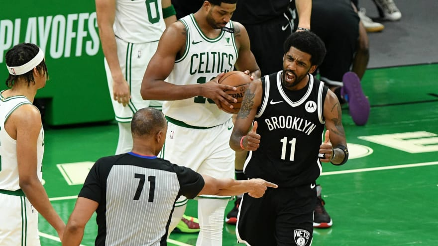 NBA world reacts to Kyrie Irving, Nets crushing the Celtics