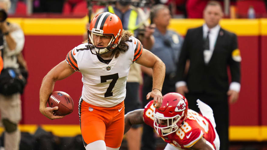 Punter Jamie Gillan: 'I cost' Browns the Chiefs game