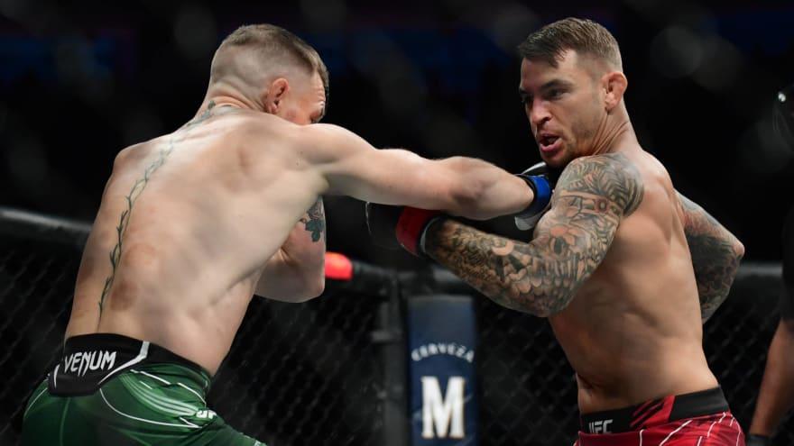 Poirier wins trilogy rematch by TKO after McGregor injures leg