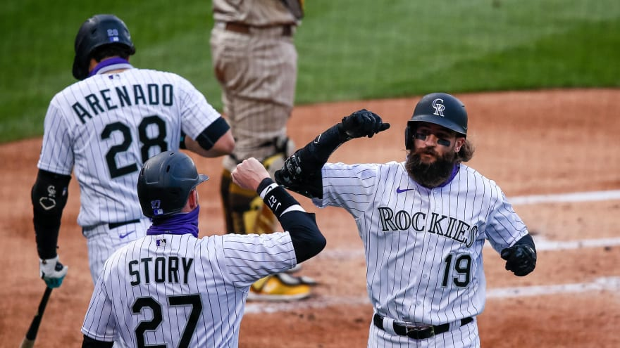 Watch: Rockies star Charlie Blackmon blasts 446-foot two-run home run