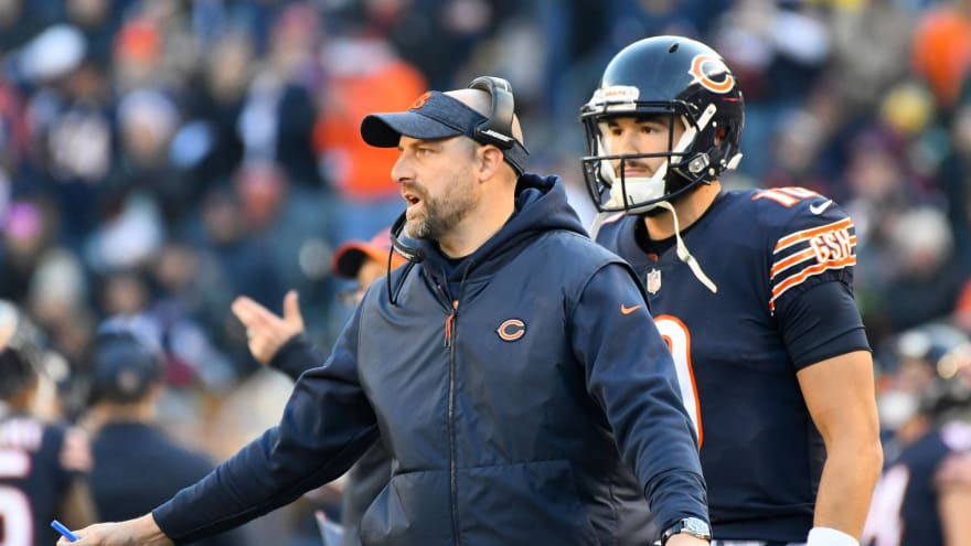 Bears 'improved' with Andy Dalton, but coach Matt Nagy is 'indebted' to Mitchell Trubisky
