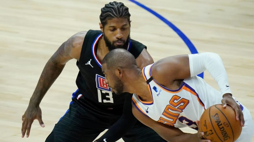 Paul George gets irritated when asked about Chris Paul