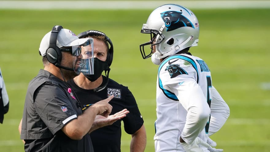 Panthers' Rhule 'disappointed' by Bridgewater criticisms