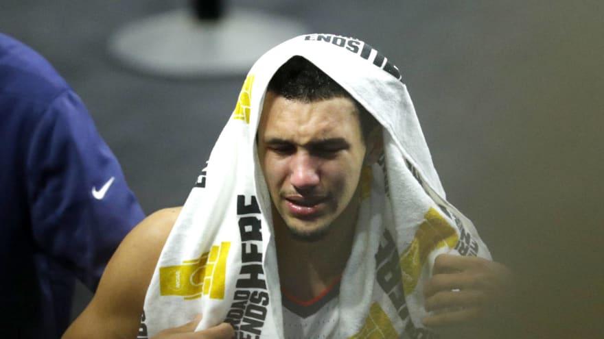 Watch: Jalen Suggs absolutely heartbroken after Gonzaga's loss