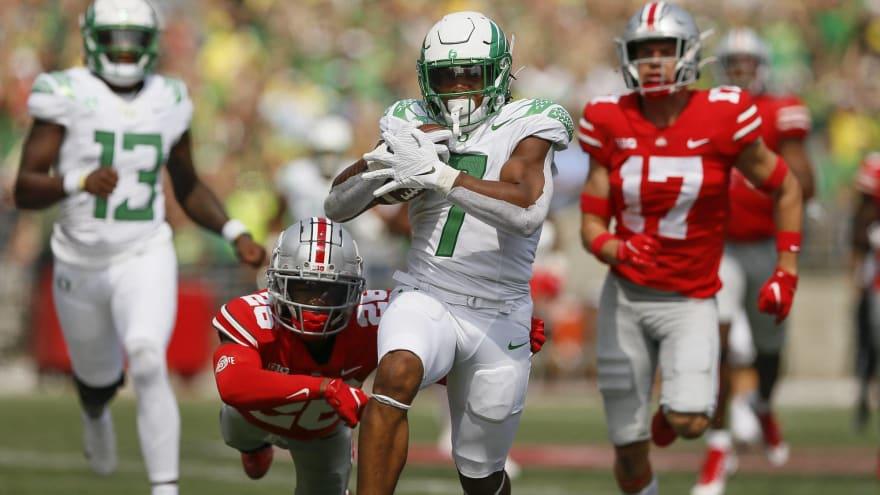 CJ Verdell dazzles in Oregon's upset win over Ohio State