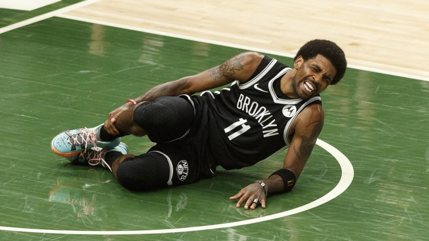 Nets' Kyrie Irving exits Game 4 vs. Bucks with ankle injury