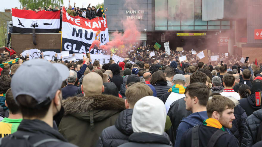 Man United fans storm Old Trafford to protest owners