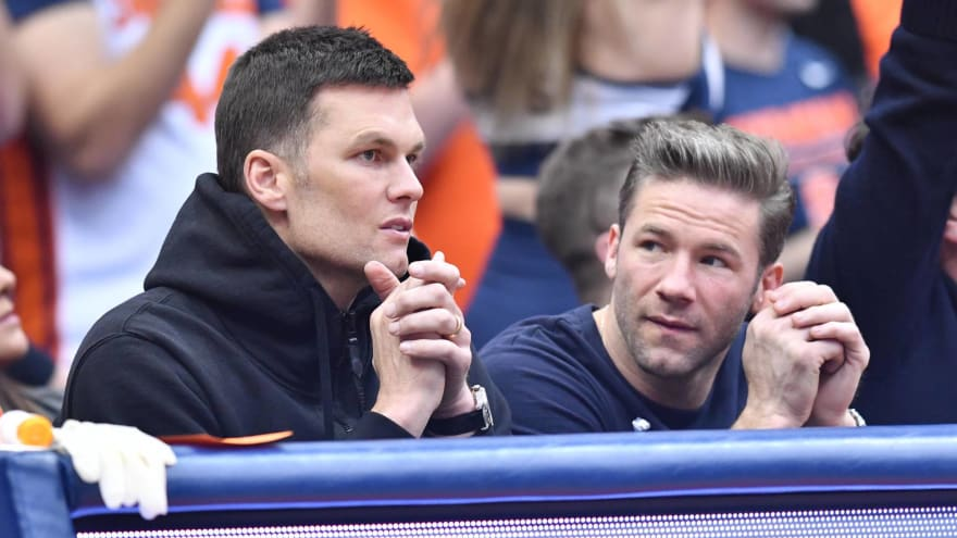 Tom Brady jokes about reunion with Julian Edelman