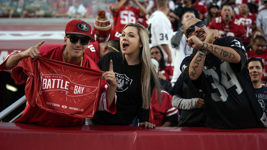 Levi's Stadium was nearly empty for Raiders-49ers game