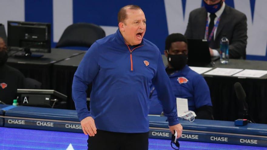 Knicks coach Tom Thibodeau defends NBA play-in tournament