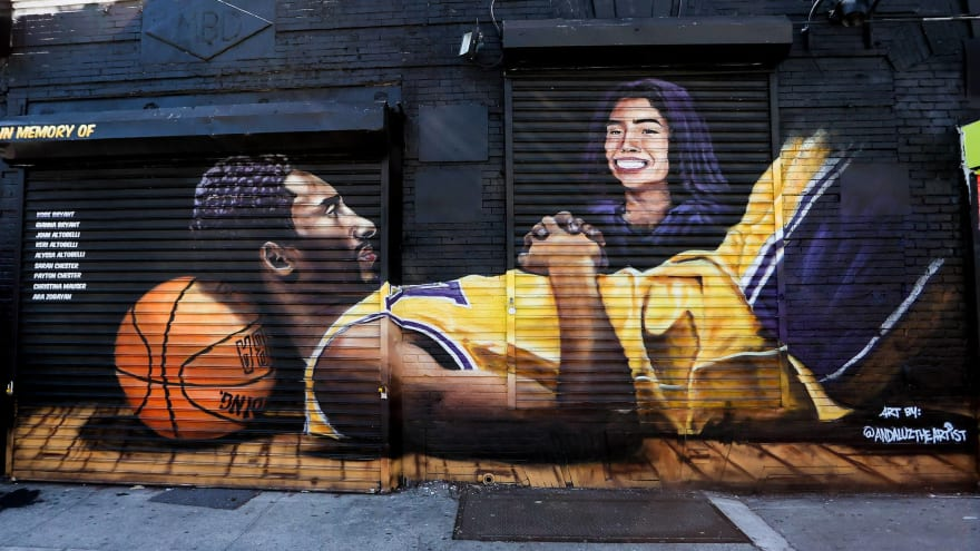 Kobe Bryant mural in Bosnia and Herzegovina is largest in Europe