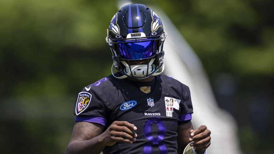 Ravens' Lamar Jackson misses practice with flagged COVID test