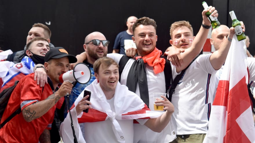 England fans try to storm Wembley Stadium before Euro final