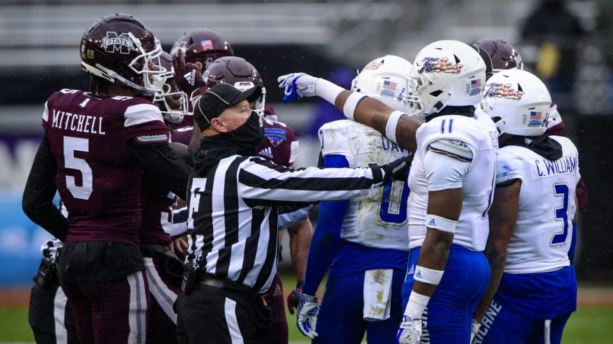 Watch: Mississippi State, Tulsa brawl after Armed Forces Bowl