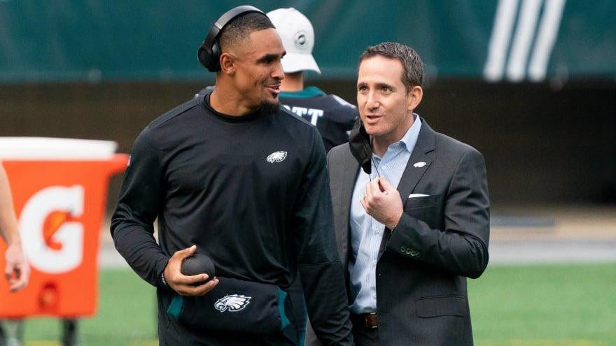 Eagles GM defends drafting Jalen Hurts, talks Carson Wentz