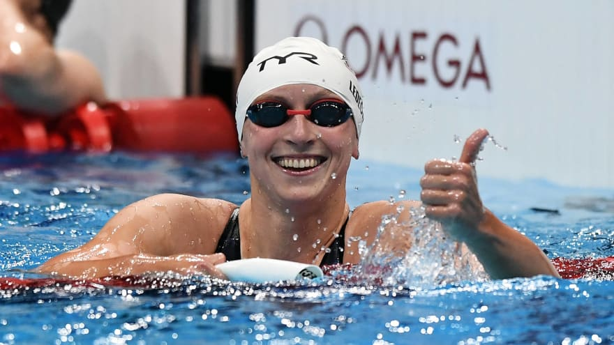 After latest gold medal, Katie Ledecky shoots down retirement talk