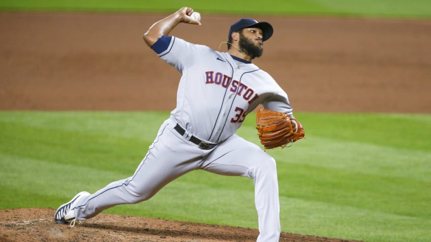 Astros activate reliever Josh James from injured list