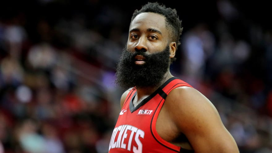 Watch: Rockets' James Harden with blooper of the NBA season