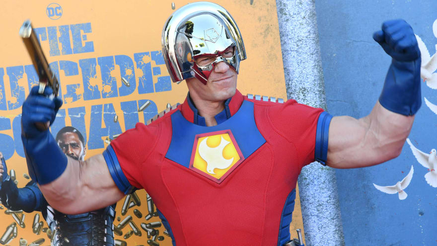 Cena attends 'The Suicide Squad' premiere in character