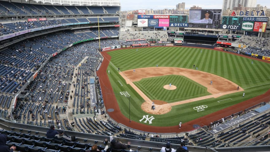 Yankees fan obliterated by security after running onto field