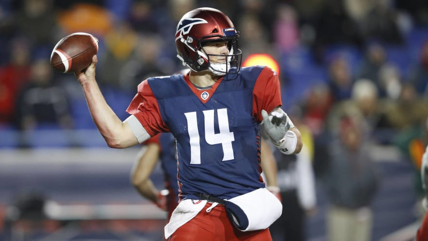 Christian Hackenberg already on bench for AAF's Memphis Express ...