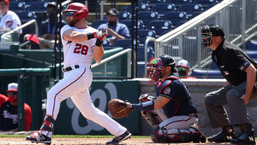 Nationals reinstate three from COVID list; designate Jonathan Lucroy for assignment