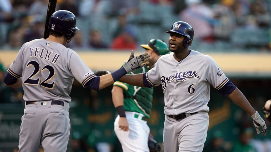 Christian Yelich, Lorenzo Cain will reportedly return Monday