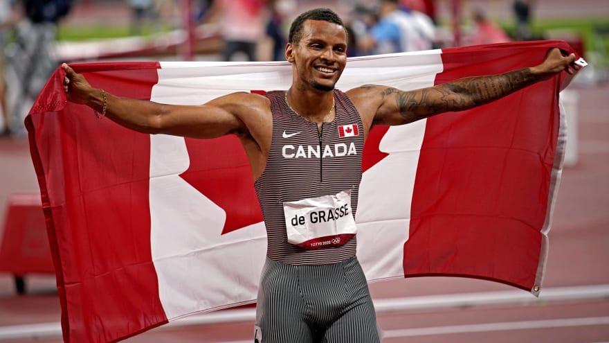 Andre de Grasse wins gold in men's 200 meters