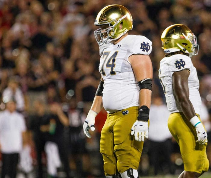 Green Bay Packers: Liam Eichenberg, OL, Notre Dame