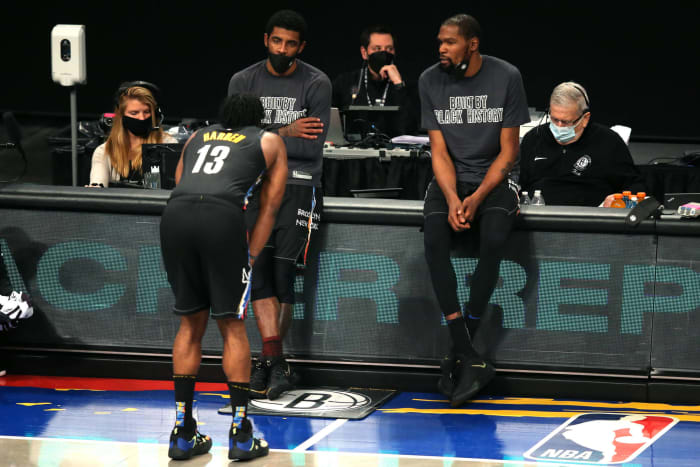 Kevin Durant and James Harden have played a combined 64 games for the Nets